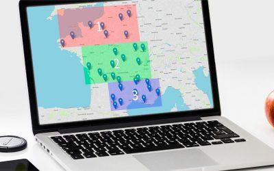 Sectorizar puntos en zonas por sus coordenadas GPS